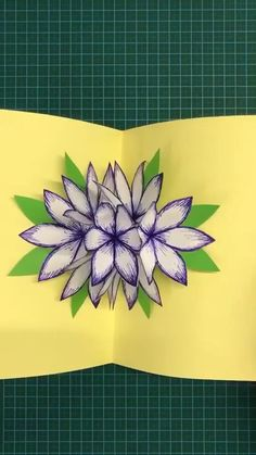 DIY PAPER FLOWER Use hard paper to make a flower stereo greeting card. Save it, as a gift to your Diy Crafts Hacks, Diy Crafts For Gifts, Diy Home Crafts, Diy Arts And Crafts, Creative Crafts, Crafts For Kids, Hard Crafts, Diys, Creative Ideas