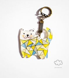 Keychains – cat – a unique product by PINTURA on DaWanda