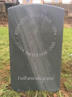 Slate headstone with bespoke hand carved lettering. Setting Up A Charity, Agapanthus Plant, Grave Headstones, Cemetery Monuments, Beautiful Lettering, Memorial Stones, How To Raise Money, Constellations, Funeral