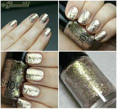 Maybelline Color Show Brocades Gilded Rose Swatches, Review and Nail Art | via @Glamorable!!
