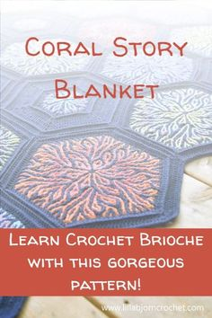The stunning Coral Story Blanket uses the brioche crochet technique in hexagon motifs. This easy crochet method uses familiar crochet stitches and chains to create a gorgeous coral pattern! By LillaBjornCrochet Size: approx. 135 x 145 cm (can be adjusted as needed by making more motifs) #paidpattern #crochetpatterns #brioche #crochetbrioche Afghan Patterns, Crochet Blanket Patterns, Crochet Shawl, Crochet Stitches, Knitting Patterns, Knit Crochet, Unique Crochet, Beautiful Crochet, Easy Crochet
