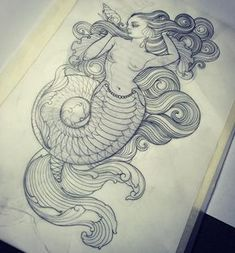 I've had a day become free this Thursday the I've got this design as well as a few others I'd like to tattoo, otherwise am happy to… Sirene Tattoo, Body Art Tattoos, Hand Tattoos, Mermaid Tail Tattoo, Drawing Down The Moon, Funny Sketches, Rose Hand Tattoo, Drawing Course, Mermaid Art