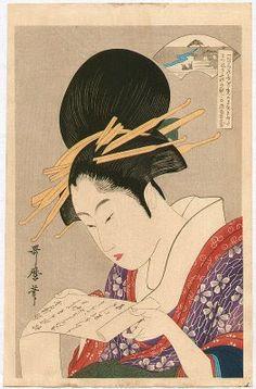 o silêncio dos livros: Utamaro Kitagawa [ Reading Beauty ] 1750-1806