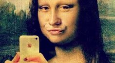 This image connects to convergence in media. In this photo Mona Lisa is taking a typical duck face selfie with an iPhone. If Mona Lisa still lived, and had an iPhone, society would make her look like this. This photo definitely makes fun of the effects of media on people today. Thanks for sharing Bridget Fornaro.