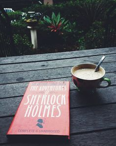 """""""The Adventures of Sherlock Holmes"""" by Sir Arthur Conan Doyle Sherlock Holmes, Books To Read, My Books, Coffee And Books, Book Aesthetic, Book Nooks, Book Photography, Book Nerd, Bibliophile"""