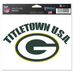Green Bay Packers Colored Decal