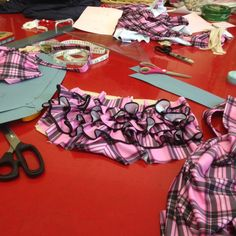 The frills have been attached to the back of the swimsuit - it's almost complete. #bikini #swimwear #fabric #Lycra