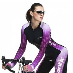 New Womens Cycling Outdoor Sport Bike Bicycle Jacket Long Sleeve Jersey M-XL