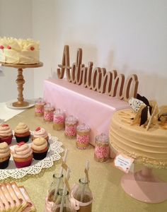 Pretty treats at a pink and gold birthday party!   See more party ideas at CatchMyParty.com!