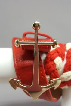 "Attention Nautical Lovers!  This one is for you!  Red & white braided rope belt with gold anchor.  Classic!  Shop: https://www.shoppinwithsailin.com/collections/belts/products/timeless-red-white-braided-belt-with-anchor-buckle?utm_content=buffer6a815&utm_medium=social&utm_source=pinterest.com&utm_campaign=buffer  Approximately 3/4""-1"" wide and 38""-39"" long FREE SHIPPING!!!"