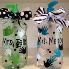 Teacher gifts - personalized hand sanitizer dispenser!