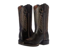 Ariat Round Up Wide Square Limousin Black - Zappos.com Free Shipping BOTH Ways