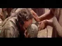 This humble scene is the greatest scene in the greatest movie ever made Ben-Hur.  It's always easy to get excited about the action scenes however the profoundness of this scene tied to it's counterpart during the Via Dolorosa makes you wonder what you've done for God today