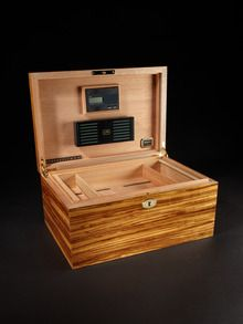 Zebrawood Ambiente Humidor by Daniel Marshall up to 60% off at Gilt