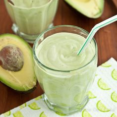 Avocado Coconut Smoothie Shake - Chew Out Loud