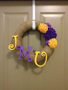 my jmu wreath :)