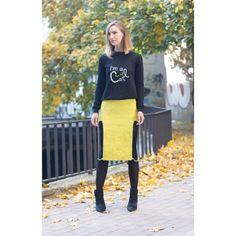 Yellow chain skirt
