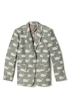A Whale of a good time in Thom Browne's Classic Nipped Waist Short Coat