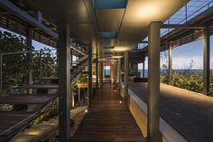 Contemporary Beach House Exposing Its Steel Structure and Wooden Decking in Lebanon - http://freshome.com/2014/10/07/contemporary-beach-house-exposing-its-steel-structure-and-wooden-decking-in-lebanon/