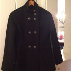 Liz Claiborne Peacoat Wool blend peacoat. In very good condition. Liz Claiborne Jackets & Coats Pea Coats