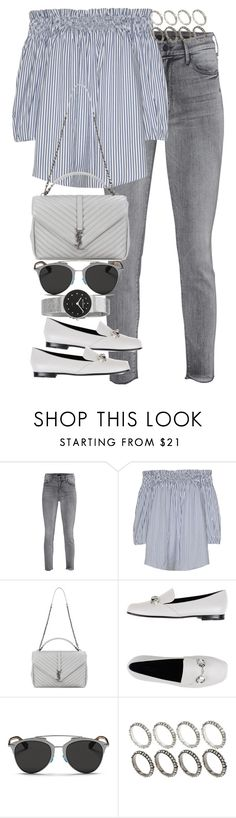 """""""Untitled #3122"""" by angieswardrobe ❤ liked on Polyvore featuring Mother, Yves Saint Laurent, Gucci, Christian Dior, ASOS and Skagen"""