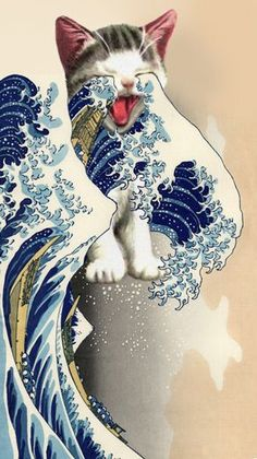 The Great Wave Off Kanagawa: Meow Me a River. R7/16