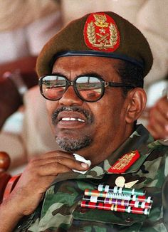 "Omar al-Bashir, ""president"" of Sudan since Dictator and war crimes perpetrator. Wanted by the International Criminal Court. Pals with Jacob Zuma who refused to have him arrested when he visited South Africa, despite the standing warrant of arrest. Human Rights Council, Human Rights Issues, African Dictators, Omar Al Bashir, United Nations Human Rights, African Countries, World Leaders, Presidents, Military"