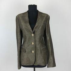 Belvest Blazer Jacket size 12 UK Cashmere Business Plaid Herringbone IT44  0a06bf22848