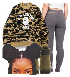 Bape Contest by copperperro on Polyvore featuring polyvore, fashion, style, Timberland, clothing, contest, bape, 2017 and litty