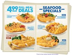 Captain D's - Your Seafood Restaurant Fish And Chips Menu, Fish And Chips Restaurant, Seafood Restaurant, Food Catalog, Butterfly Shrimp, Crab Stuffed Shrimp, Food Advertising, Baked Fish, Fish Recipes