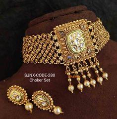 Gold Jewelry, Jewelery, Fine Jewelry, Bridal Jewellery, Bridal Jewelry Sets, Fashion Necklace, Fashion Jewelry, Indian Jewelry Sets, Bangle Set