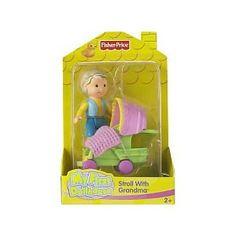 Fisher Price My First Dollhouse - Stroll with Grandma (Toy)  http://www.amazon.com/dp/B000N6M5N6/?tag=goandtalk-20  B000N6M5N6