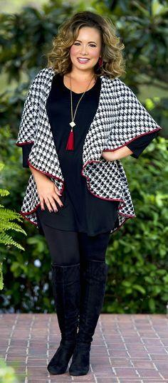 Classic Cutie Wrap - Black & Cream - Perfectly Priscilla Boutique
