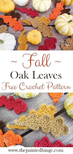 Crochet Flower Patterns Fall Oak Leaves Free Crochet Pattern - Get your crochet on for Fall with this Fall Oak Leaves Free Crochet Pattern! Great for Fall decorating, banners, appliques, and gift decorations! Crochet Leaf Patterns, Crochet Leaves, Knit Or Crochet, Crochet Gifts, Crochet Motif, Crochet Stars, Amigurumi Patterns, Thanksgiving Crochet, Holiday Crochet