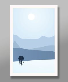 Star Wars Inspired - Hoth Tribute - Minimalist Movie Poster Set - Edition Two - Home Decor Geek Decor, Minimalist Poster, Star Wars Art, Far Away, Decoration, Art Inspo, Illustration, Film, Poster Prints