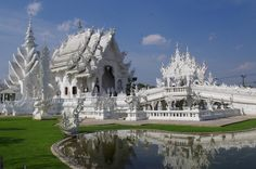 Wat Rong Khun (White Temple) Unconventional Buddhist Temple in Chiang Rai, Thailand