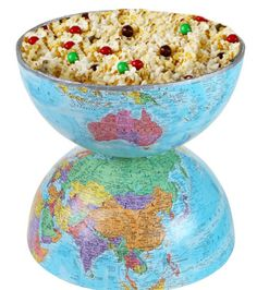 Around the World Bowl | A fun and creative way to present snacks | Earth Day Crafts | DIY Snack Bowl