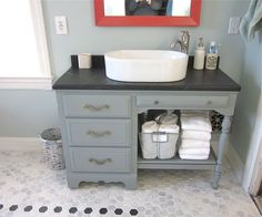 turning table into bathroom vanity - Google Search