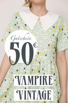 Entdecke lässige und festliche Kleider: Vampire Vintage Geschenkgutschein Wert: 50 Euro made by Vampire Vintage via DaWanda.com