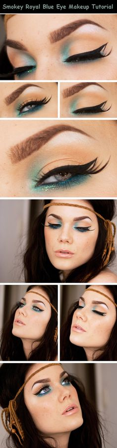 Smokey Royal Blue Eye Makeup Tutorial, so pretty to look at but I could never pull it off