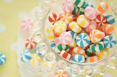 15 pcs Polymer Clay Candy Cabochon 10-13mm CD649 by Candydecoholic