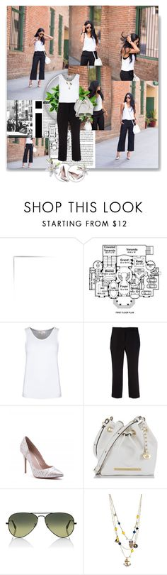 """""""769. Walk in wonderland - black & white"""" by love133love ❤ liked on Polyvore featuring Robert Rodriguez, Limited Edition, Charles by Charles David, Ray-Ban and Betsey Johnson"""