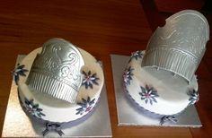 Tarta fondant decorada. Peinetas falleras. #cakes