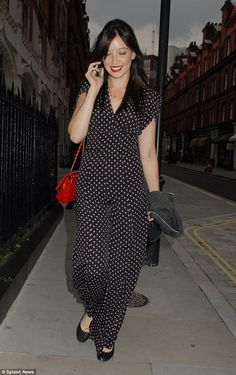 Seeing spots: Daisy Lowe looked stunning in a polka-dot jumpsuit as she stepped out at the...