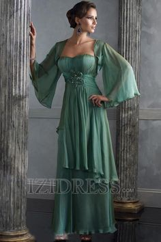Women's #Fashion #Clothing: Party/Evening Gowns and Dresses: Sage #Green A-Line Princess Sweetheart Chiffon Mother Of The Bride Dress: Clothes