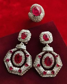 @davidwebbjewels. It's time to celebrate the ruby, the birthstone of July, with these spectacular pieces by David Webb. ❣️