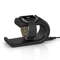 Fitbit Blaze Charger XIEMIN Replacement Charging Dock Station Cradle For Fitbit Blaze Smart Fitness Watch Black ** More info could be found at the image url.