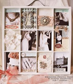 Artist Printer's Tray - Wedding Themed by Ranjini by 7gypsies