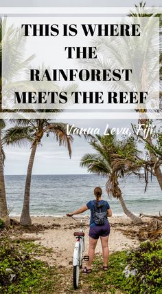 This is where the rainforest meets the reef, Vanua Levu, Fiji. An experience on the outer edge of the Fiji islands will connect you to the destination in a way you can't experience in the more commercial areas. You'll instantly feel the slowness of the life and truly find yourself on island time. Click to read 7 Reasons to Stay at the Koro Sun Resort in Fiji #Fiji #AdventureTravel #Travel #Resort