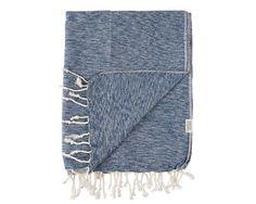 MAYDE BRIGHTON BEACH BLANKET - DENIM 80% Cotton / 20% Bamboo blend Denim colour woven with white